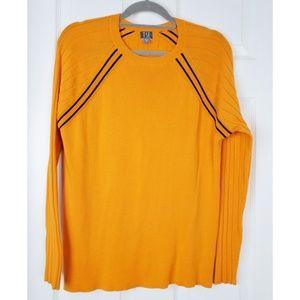 TSE scoop neck stripped sweater size Xl